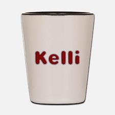 Kelli Santa Fur Shot Glass