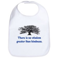 WISDOM GREATER THAN KINDNESS Bib