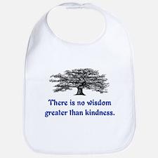 WISDOM GREATER THAN KINDNESS Bib