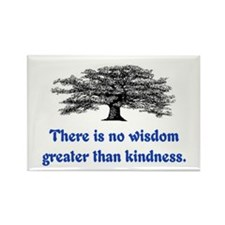 WISDOM GREATER THAN KINDNESS Rectangle Magnet