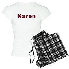 Karen Santa Fur Pajamas