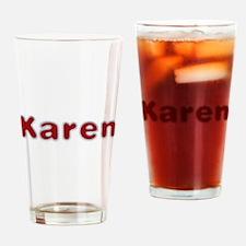 Karen Santa Fur Drinking Glass