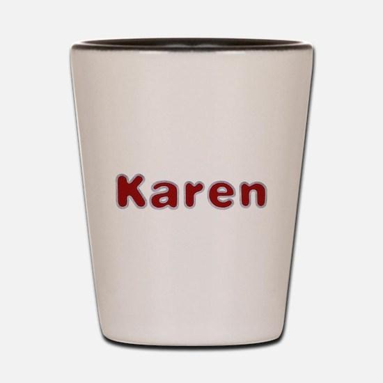 Karen Santa Fur Shot Glass