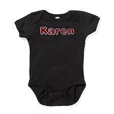 Karen Santa Fur Baby Bodysuit