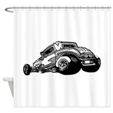 Rat Rod Coupe Shower Curtain
