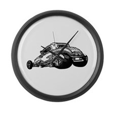 Rat Rod Coupe Large Wall Clock