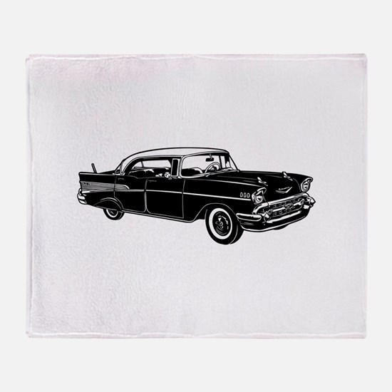 Classic 57 Street Rod Throw Blanket