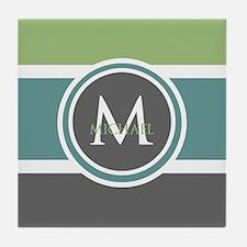Elegant Modern Monogram Tile Coaster
