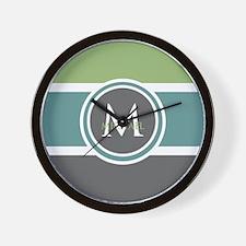 Elegant Modern Monogram Wall Clock