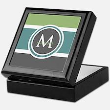 Elegant Modern Monogram Keepsake Box