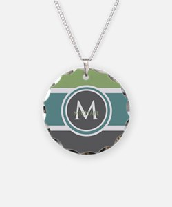 Elegant Modern Monogram Necklace
