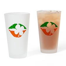 Irish Lips Drinking Glass