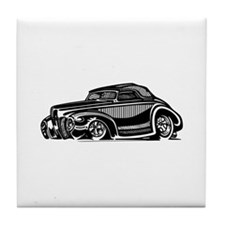Thirties Hot Rod Coupe Tile Coaster