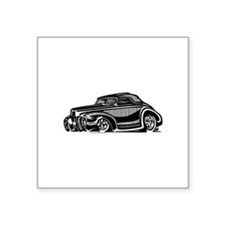 """Thirties Hot Rod Coupe Square Sticker 3"""" x 3"""""""
