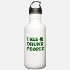 I See Drunk People Water Bottle