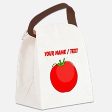 Custom Red Tomato Canvas Lunch Bag