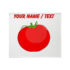 Custom Red Tomato Throw Blanket