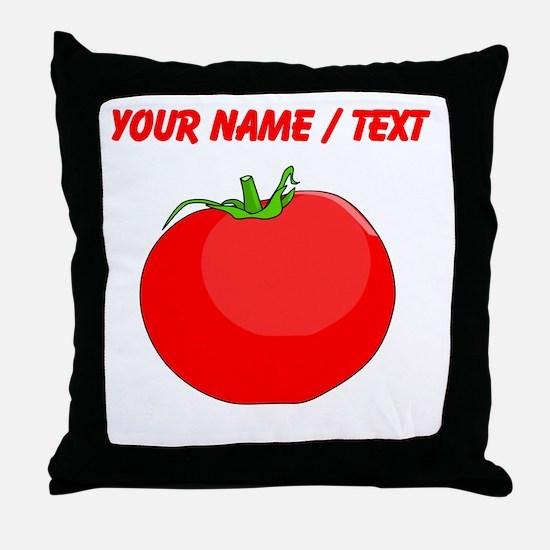 Custom Red Tomato Throw Pillow