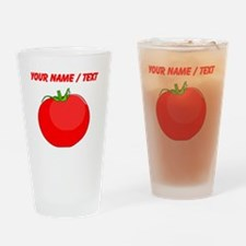 Custom Red Tomato Drinking Glass
