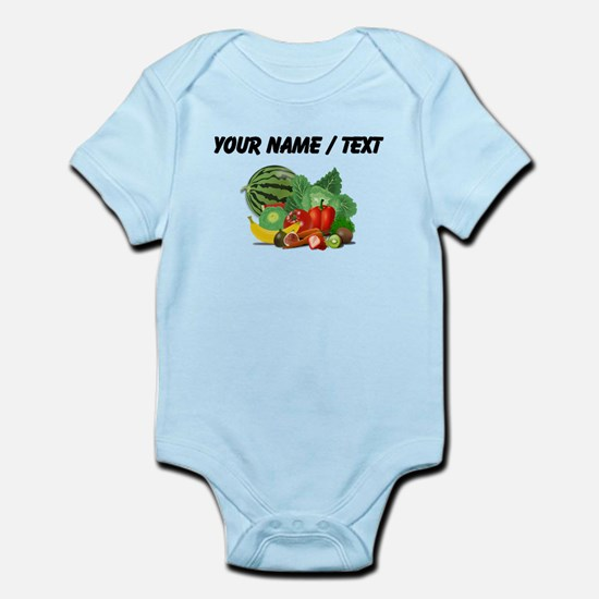 Custom Fruits And Vegetables Body Suit