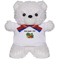 Custom Fruits And Vegetables Teddy Bear