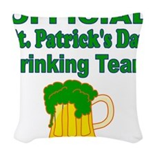 Official St. Patricks Day Drinking Team Woven Thro
