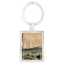 New York Yacht Club Regatta Portrait Keychain