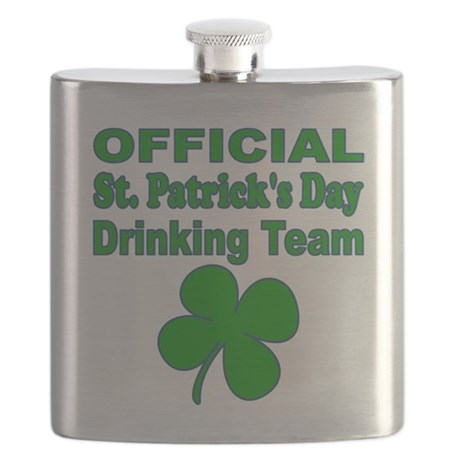Official St. Patricks Day Drinking Team Flask
