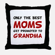 Promoted Grandma Throw Pillow