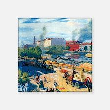 "Boris Kustodiev - Fontanka Square Sticker 3"" x 3"""