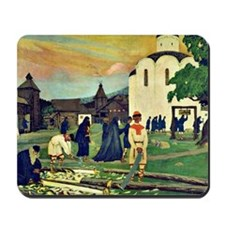 Boris Kustodiev - In the Monastery Mousepad