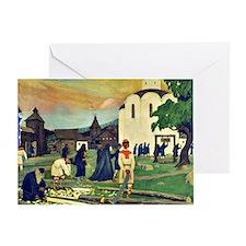 Boris Kustodiev - In the Monastery Greeting Card