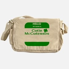 My Name Is Cutie McCuterson Messenger Bag