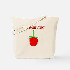 Custom Red Raspberry Tote Bag