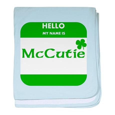 My Name Is McCutie baby blanket