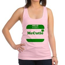 My Name Is McCutie Racerback Tank Top