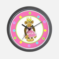Princess Monkey Wall Clock