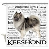 Keeshond Shower Curtains