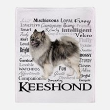 Keeshond Traits Throw Blanket