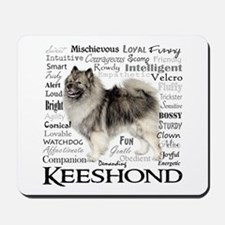 Keeshond Traits Mousepad