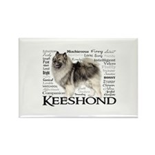Keeshond Traits Magnets
