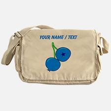 Custom Blueberries Messenger Bag