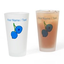 Custom Blueberries Drinking Glass