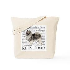 Keeshond Traits Tote Bag