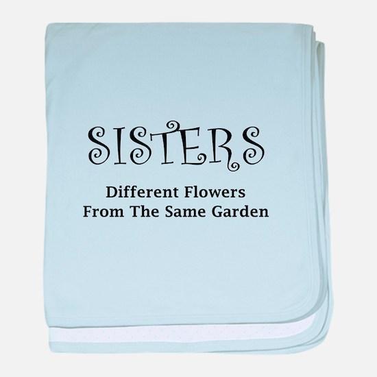 Sisters Garden baby blanket