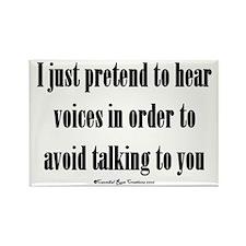 Pretend Voices Rectangle Magnet