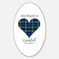 Heart - Campbell of Breadalbane Sticker (Oval)