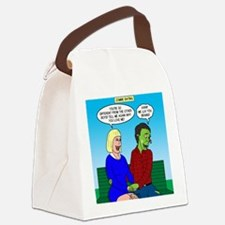 Zombie Dating Canvas Lunch Bag