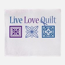 Live Love Quilt Throw Blanket