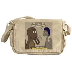 T-Rex Dining Messenger Bag